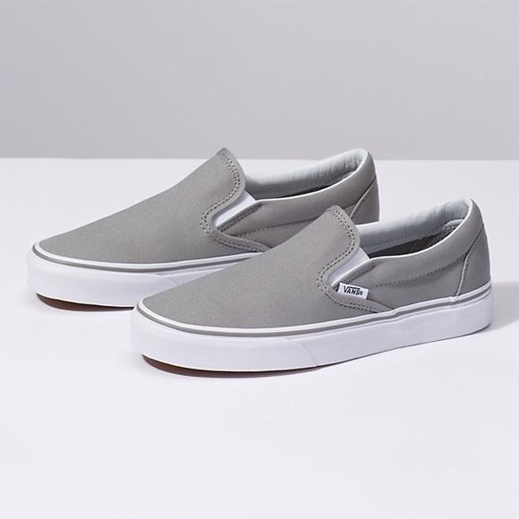 ba7afe00bda9 Gray Slip On Vans